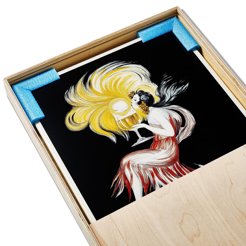 Emailleschild Leonetto Cappiello Cognac Monnet Box